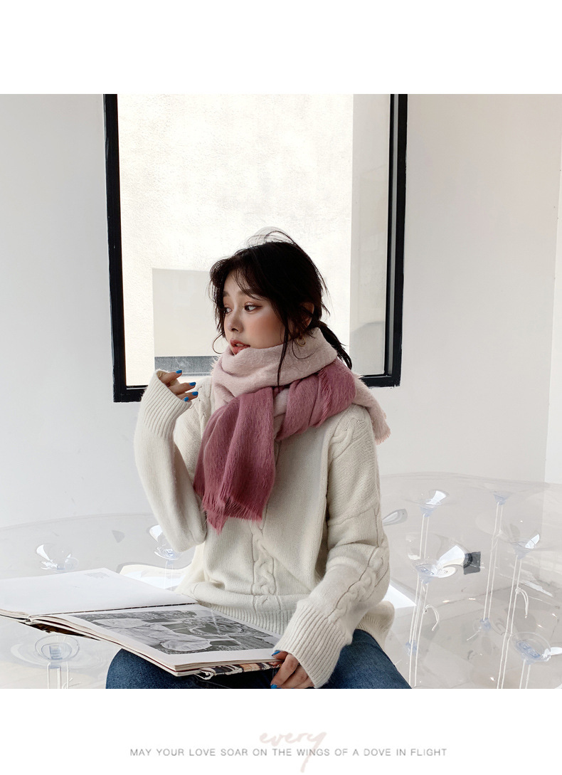 Soft and comfortable gradient hair scarf dual-use shawl NHTZ175667