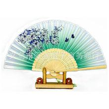 女扇子厂家批发 真丝女扇 丝绸中国风一笑梅 日式女扇 礼品扇定制