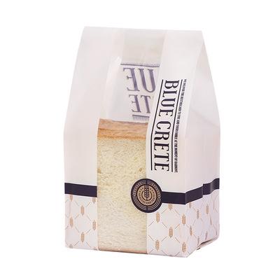 6-8片吐司袋透明开窗亮光面包袋 烘焙食品塑料包装袋*100个