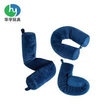 源头工厂供应符合欧美EN71和ROH标准的圆点可弯曲记忆泡沫旅行枕