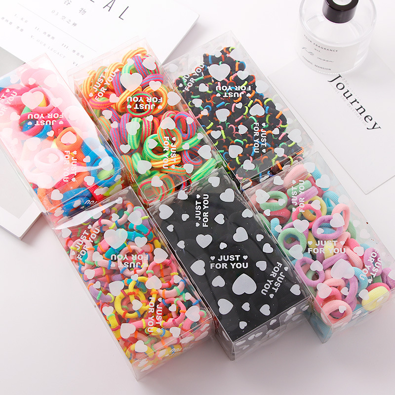 Korean children's hair accessories girls 100 boxed towel ring baby hair ring rubber band hair rope NHNA207459