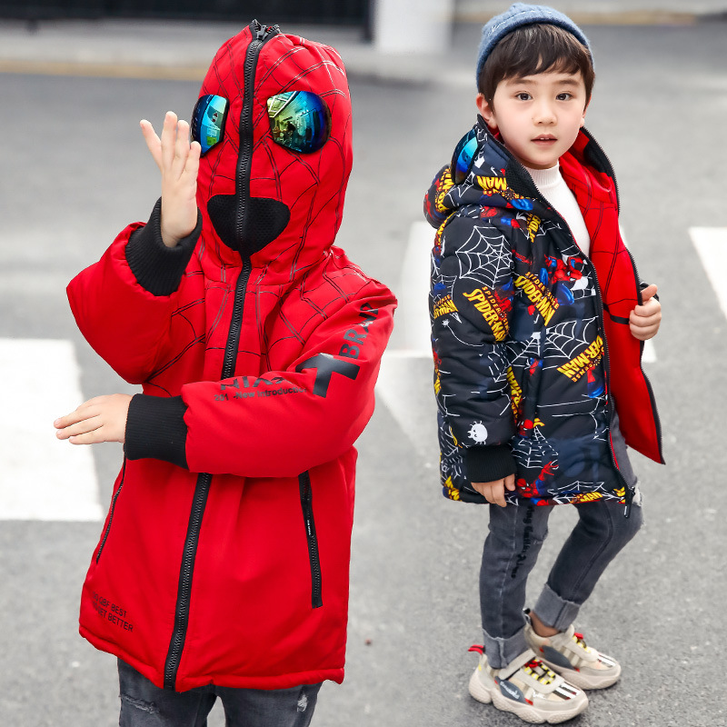 2018 winter clothing boy big boy in the five-pointed star thick cotton jacket