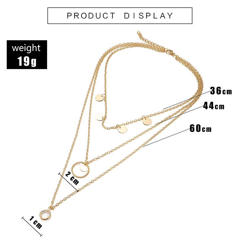 Women's multi-layer wafer necklace clavicle chain women wholesales fashion NHGY183410