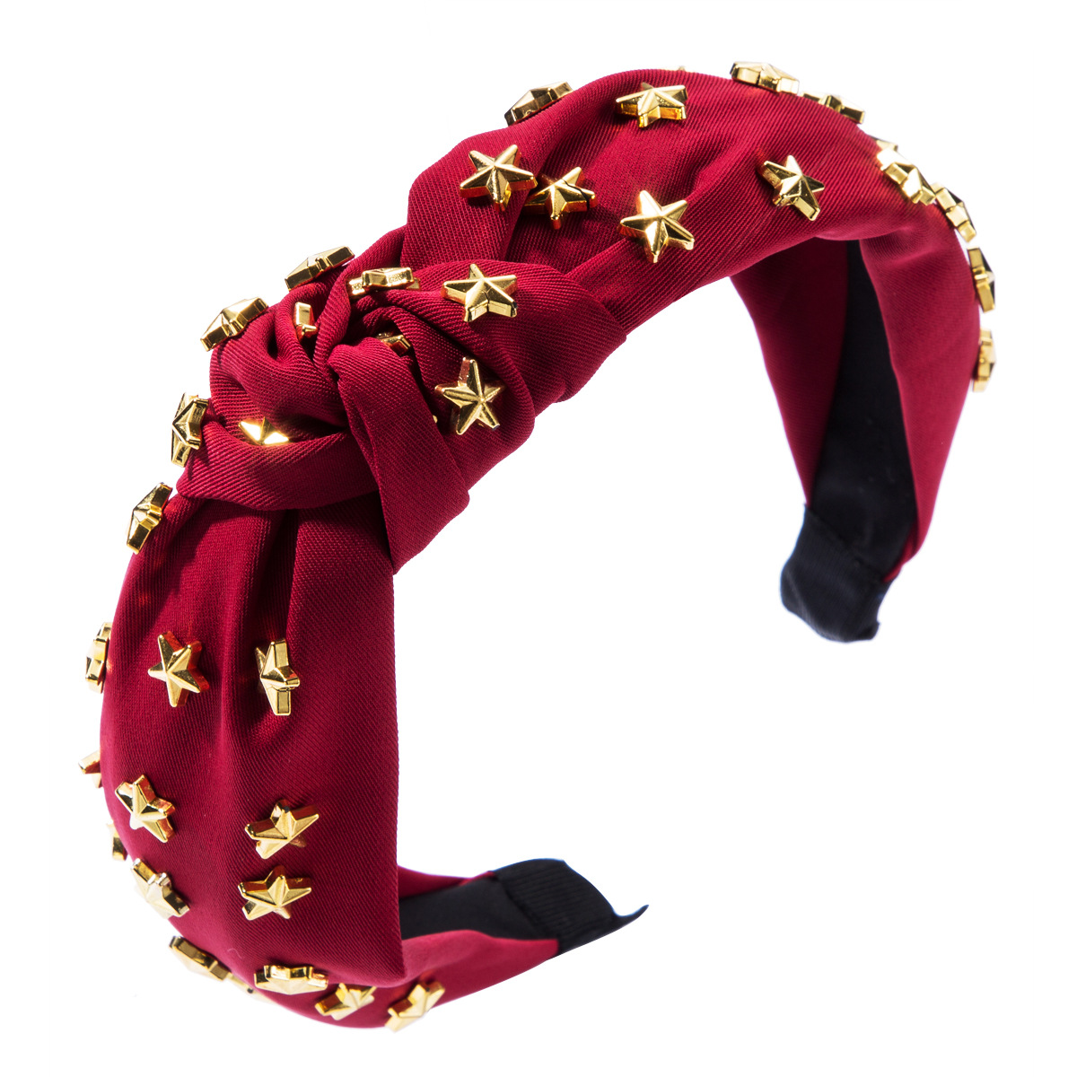 Alloy five-pointed star fabric headband new knotted headband NHJE174389