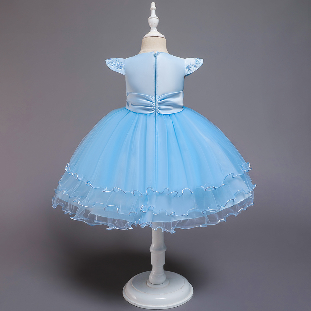 Children's evening dress princess dress flower girl wedding tutu skirt children's catwalk piano costume NHTY198315