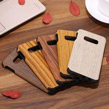 適用三星s10手機殼木紋s10+保護套硅膠貼皮實木殼全包s8p套男女殼