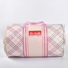 工厂定做无纺布圆筒手提袋被子包装袋 彩色嵌线包装袋 可加印LOGO