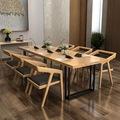北欧简约实木大型会议办公桌 办公室实木桌多人电脑桌公司会议桌