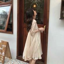 小个子连衣裙女夏2019新款网红同款一件代发韩版气质女装裙子1843
