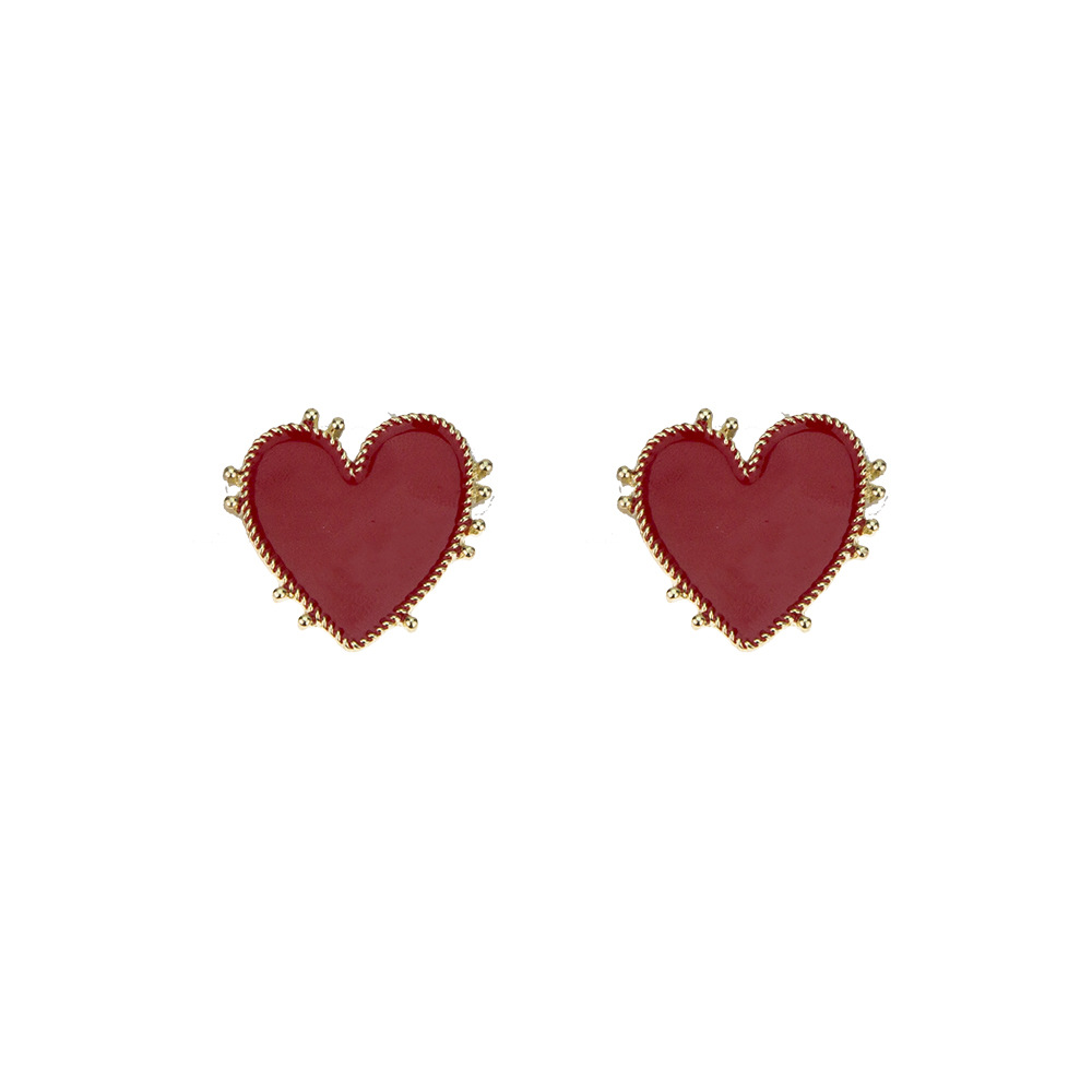 Jewelry Fashion Exaggerated Love Earrings Female Punk Retro Phnom Penh Heart Stud Earrings NHNZ176364
