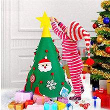 毛氈圣誕樹 圣誕裝飾品兒童益智DIY 定制新款立體圣誕掛件 圣誕樹