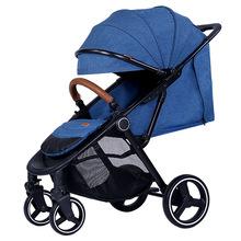 高景觀嬰兒推車一鍵折疊加寬嬰兒車可躺可坐寶寶車避震可一件代發