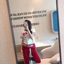 2019新款韩版纯棉睡衣女士短袖长款甜美可爱全棉可外穿家居服批发