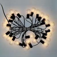 亚马逊爆款低压防水LEDG40灯串 25灯节日圣诞装饰led灯泡