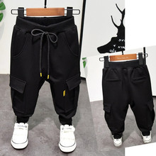 Xuân 2019 trai mới quần đẹp trai trung xuân xuân công cụ dụng cụ quần tây thông thường bé mồ hôi phiên bản Hàn Quốc Quần cotton