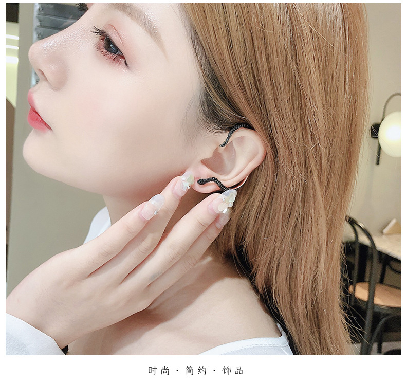 Earrings female sterling silver needle winding exaggerated personality ear clip NHDO190083