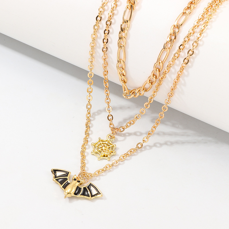 Fashion Multilayer Pendant Halloween Necklace NHNZ156031