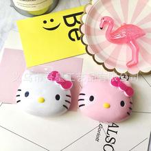 批發新款可愛Hello Kitty貓卡通隱形眼鏡盒美瞳護理盒塑料伴侶盒