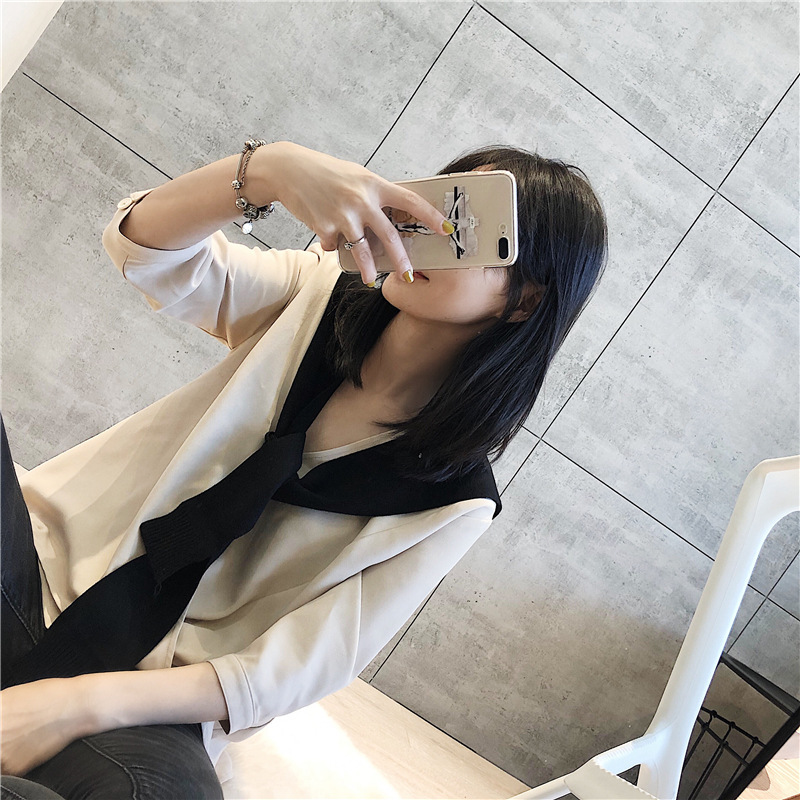 Shawl knit outer solid color shawl female knotted tie NHTZ175683