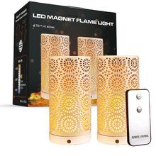 跨境新款白色磁鐵火焰燈帶遙控 重力感應仿真火焰led燈罩蠟燭燈