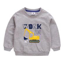 琦盈童装卫衣2020新款洋气挖土机男宝宝圆领长袖上衣现货 童卫衣