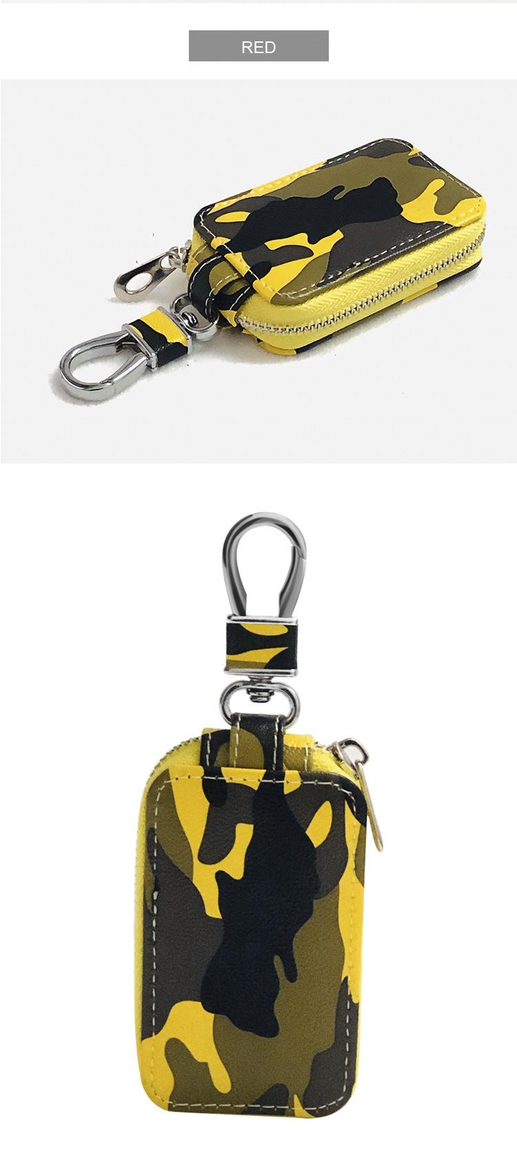 Korean fashion camouflage car universal key case custom multifunctional zipper waist keychain wholesale nihaojewelry NHBN237991