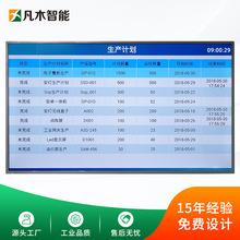 工廠生產線LCD電子管理看板計劃實際產量計數進度監控軟件MES系統
