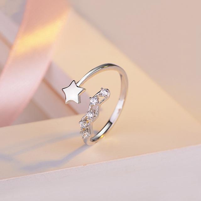 Ưu đãi đặc biệt S925 sterling bạc nhẫn kim cương nữ khai trương Nhật Bản và cô gái ngọt ngào trái tim thực phẩm nhẫn ngón tay lưới đỏ sinh viên quà tặng thủy triều Nhẫn