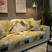 纯棉沙发垫北欧风秋冬简约客厅实木防滑布艺全棉沙发套罩四季通用