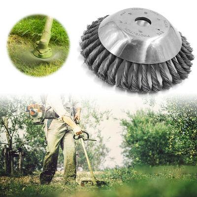 货源除草机配套盘型扭结钢丝刷园林除草刷 碗型扭丝钢丝轮批发