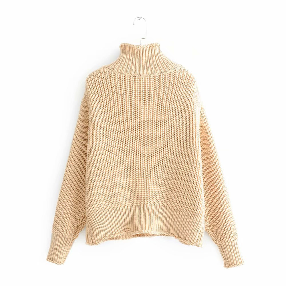 Fashion four-color loose sweater women's turtleneck sweater NHAM154885