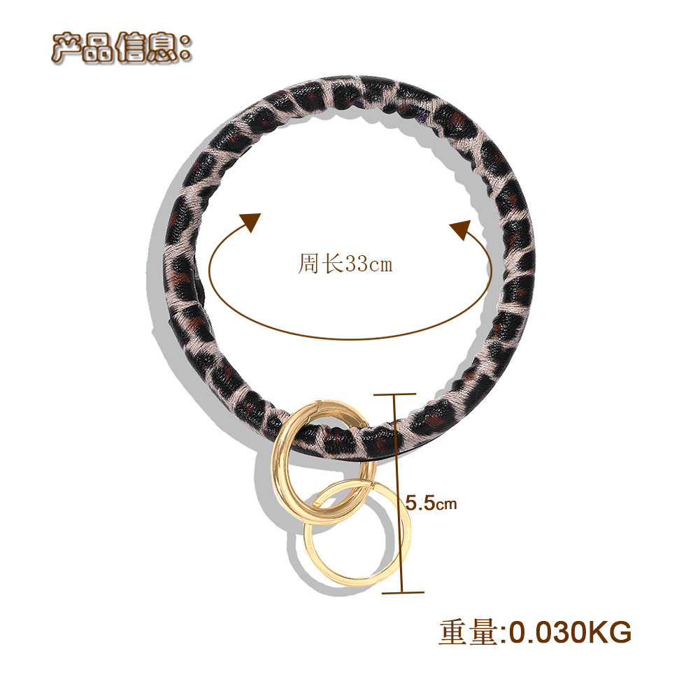 Leather rubber play vacation keychain bracelet NHJQ146706