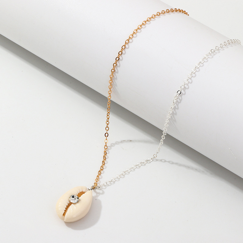 Womens Shell with rhinestones plating alloy Necklaces NHNZ126575