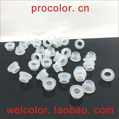 7.0 7.35  5 mm T型空心硅橡胶过线保护塞 玻璃孔螺丝柱绝缘套筒