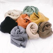 森林系冬季純羊毛紗兒童新款韓版卡通男女童保暖毛絨圍巾