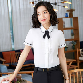 Stylish short-sleeved shirts for women in summer short-sleeved shirts office overalls