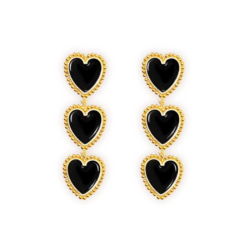 Fashion alloy-plated drops of love earrings NHOT134819