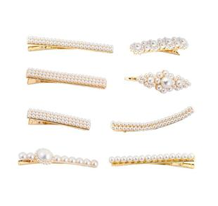 Hot hair accessories hair clip set pearl hair clip Fashion women's hair clips set NHHN199560