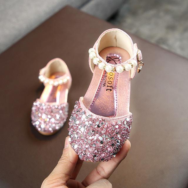 Mùa xuân và hè 2019 cô gái mới giày đơn giày bé công chúa Giày trẻ em thường đi giày show giày ngọc trai Giày công chúa