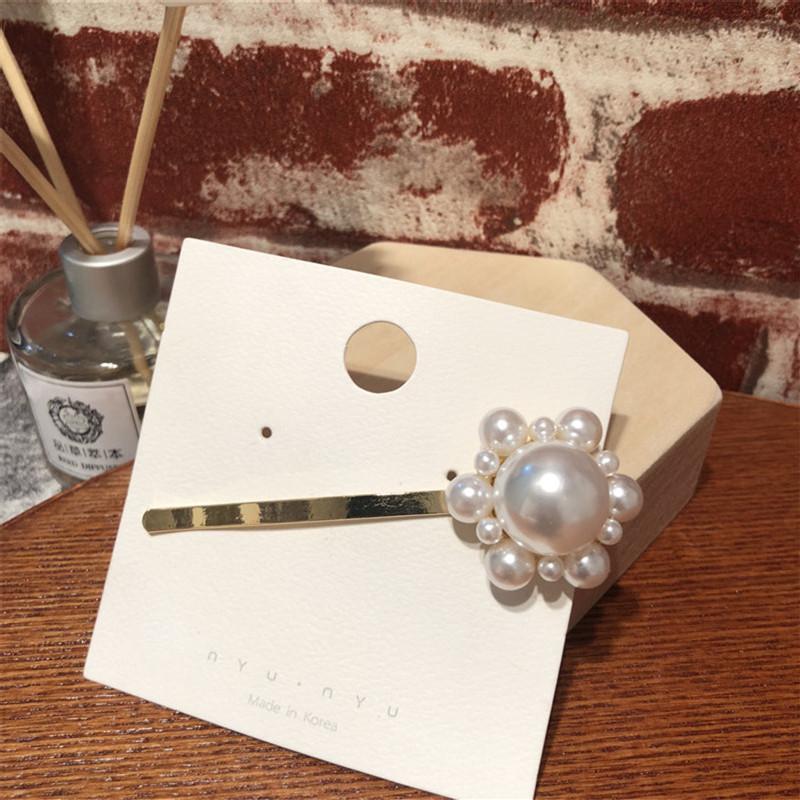 Beads Korea Geometric Hair accessories  (Long triangle)  Fashion Jewelry NHYQ0274-Long-triangle
