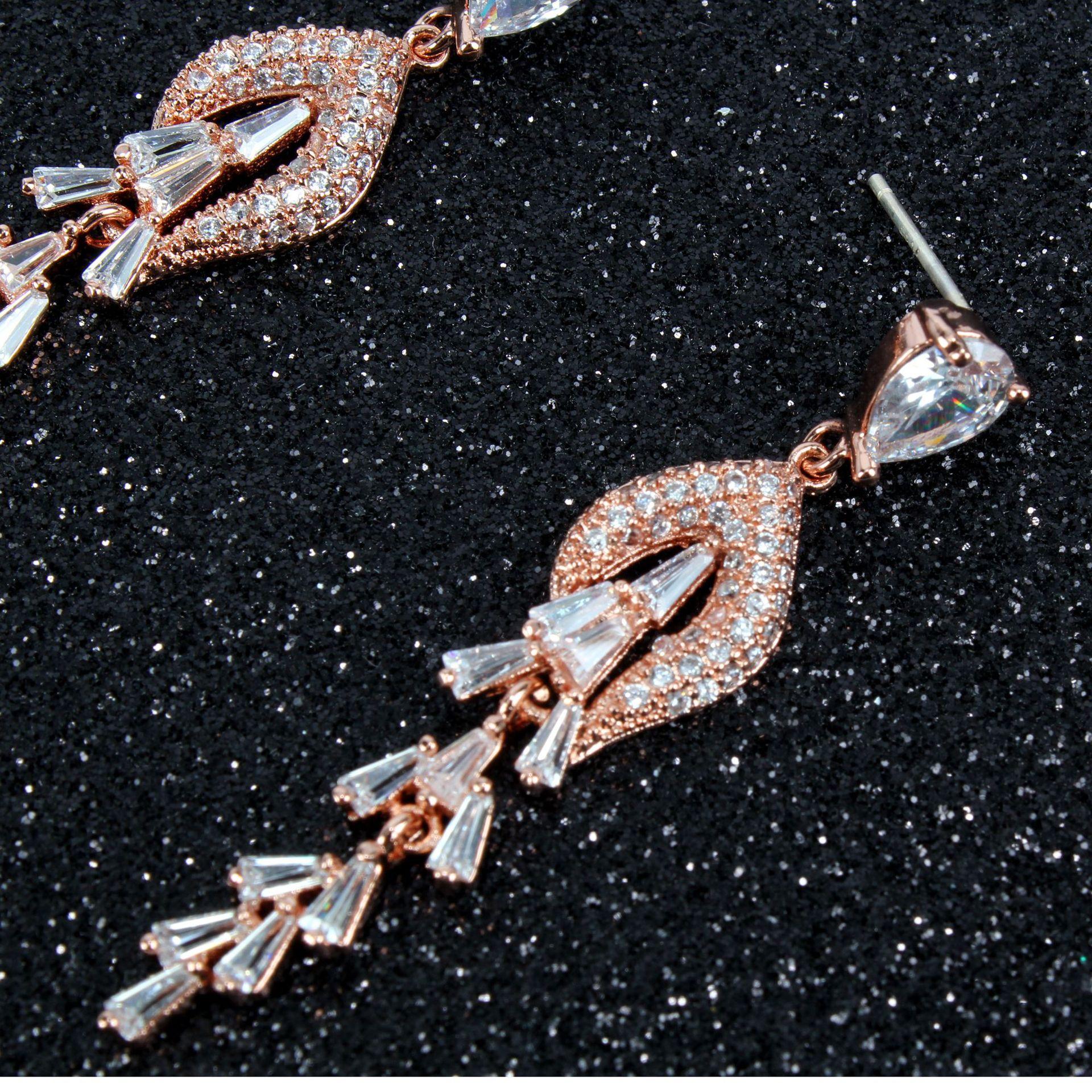 Copper Fashion Geometric earring  Alloy  Fine Jewelry NHCT0486Alloy