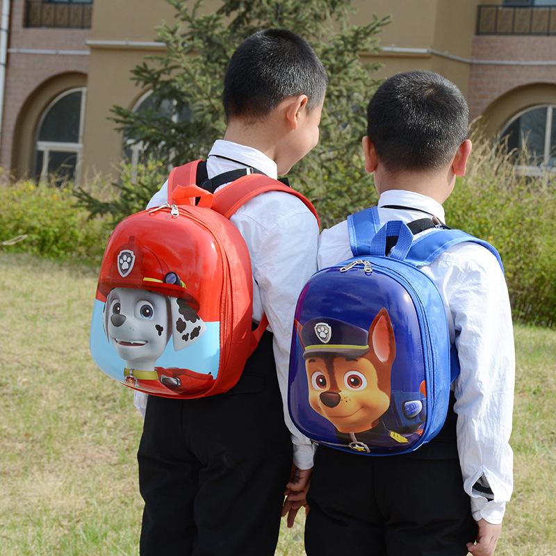 儿童书包硬壳汪汪队小朋友幼儿园卡通2-3-5岁女童男童双肩背包