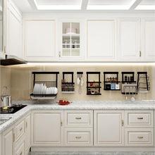 免打孔不锈钢厨房置物架壁挂式刀架调料调味收纳挂钩挂架挂件挂杆