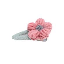 韓國ins新款毛絨花朵發夾可愛BB夾劉海夾發卡少女頂夾邊夾子頭飾