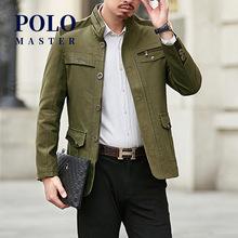保罗正品商务休闲立领夹克男春秋中老年爸爸茄克防风长袖外套薄款