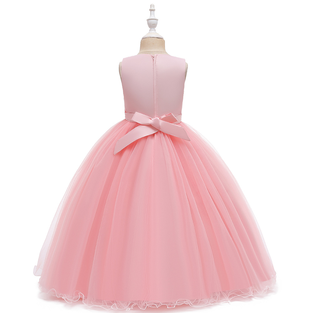 Children's dress girls princess tutu white flower girl wedding dress children dress NHTY198304