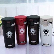 厂家直销内304不锈钢车载咖啡杯 便携弹跳盖保温水杯可定制批发