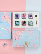 umidoo茶叶罐铁盒花茶罐欧式伴手礼日式花茶小铁罐密封茶叶包装盒