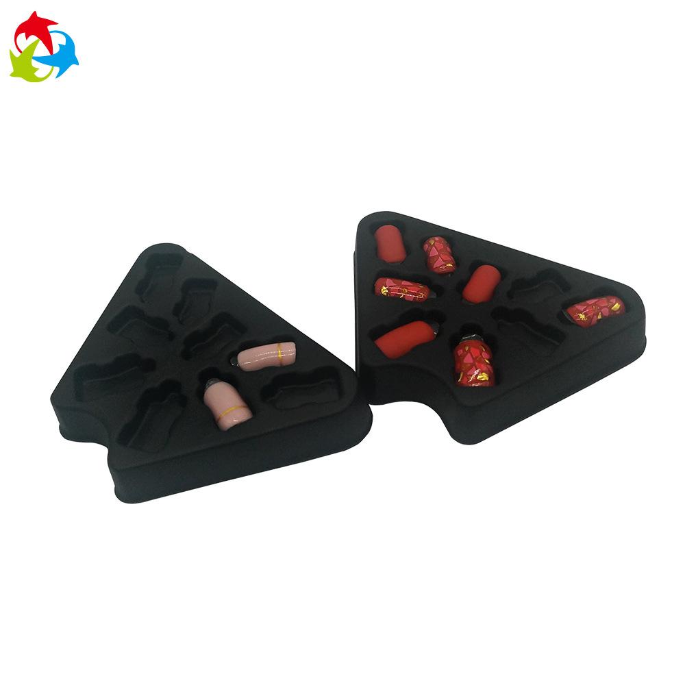 新款热销化妆品美甲成品包装收纳 PS材质假指甲片吸塑托盘