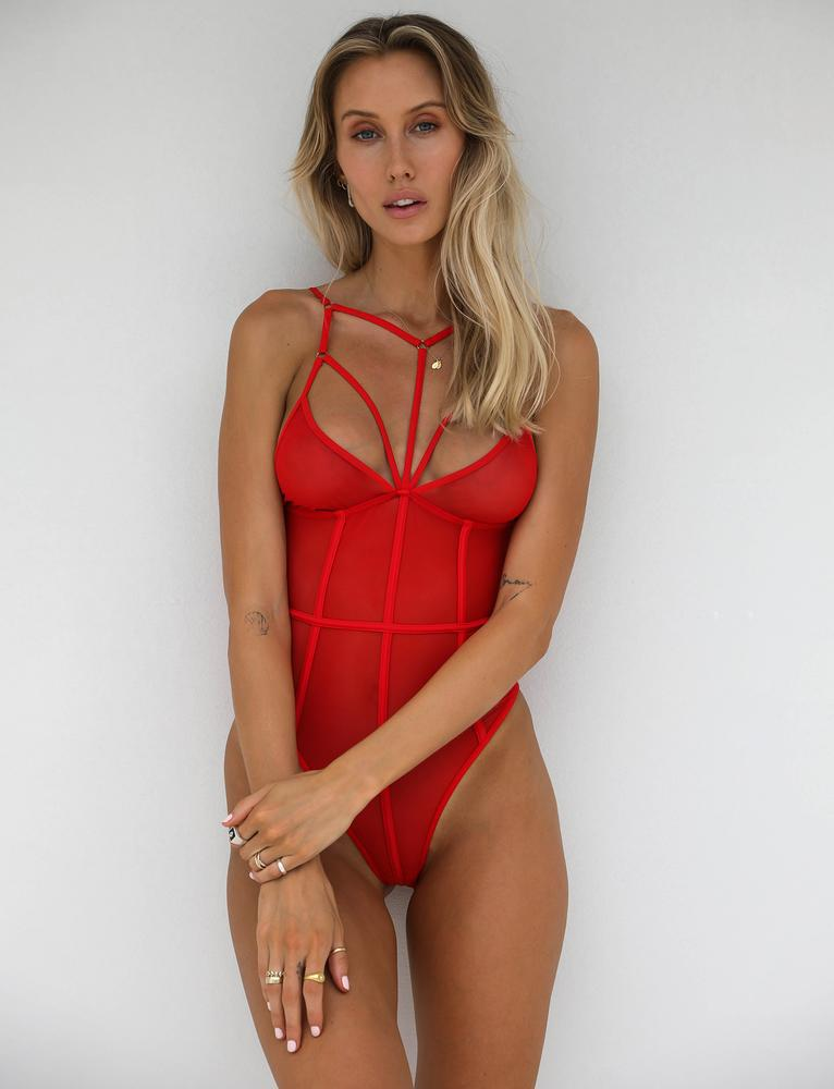 women's lace hollow halter one-piece underwear suit nihaostyles wholesale clothing NSFQQ78291